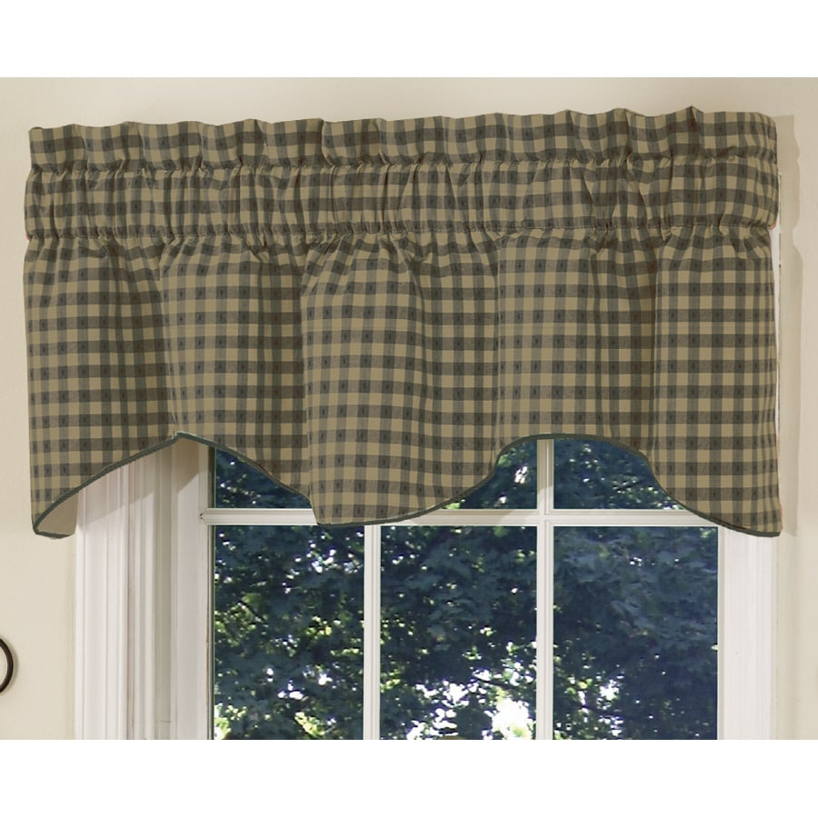 Style Selections 18-in L Sage Genoa Tapered Valance