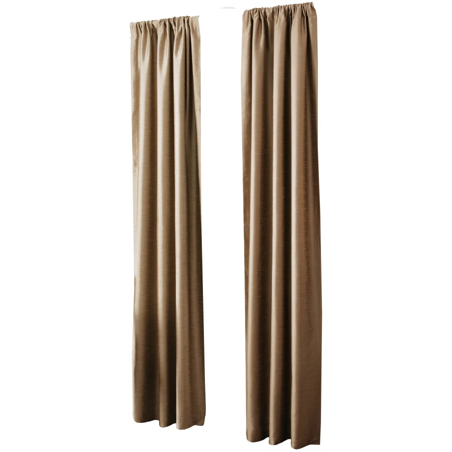 allen + roth Florence 84-in Taupe Polyester Rod Pocket Light Filtering Single Curtain Panel