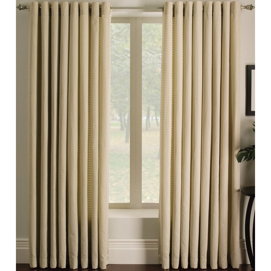allen + roth Sullivan 95-in Ivory Polyester Grommet Light Filtering Single Curtain Panel
