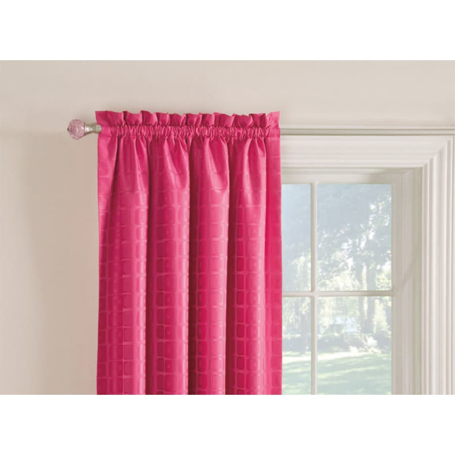 Style Selections Gabby 63-in Pink Polyester Rod Pocket Room Darkening Single Curtain Panel