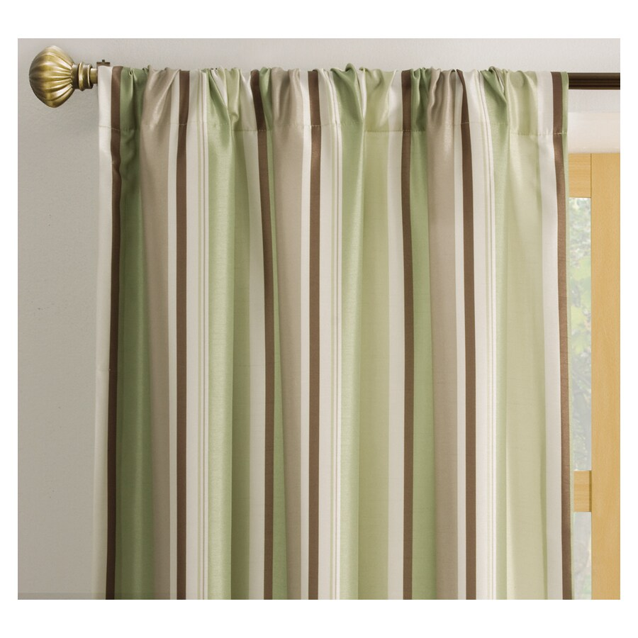 allen + roth Alison 63-in Green Polyester Rod Pocket Light Filtering Single Curtain Panel