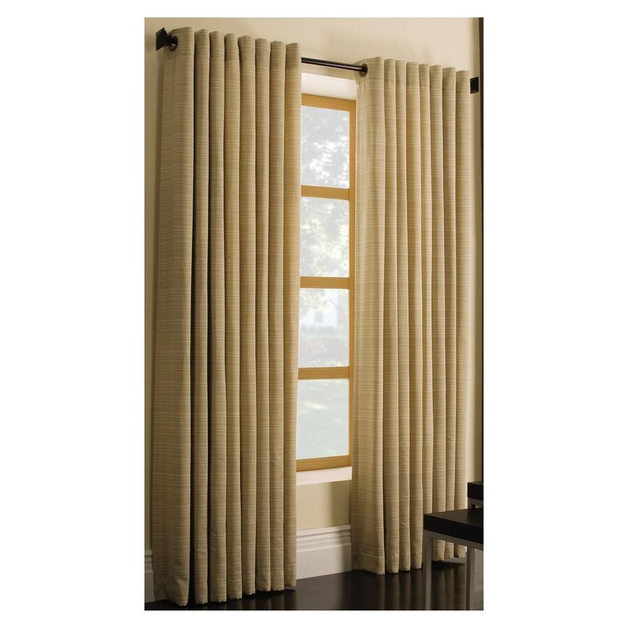Style Selections Marsden 63-in Gold Polyester Grommet Light Filtering ...