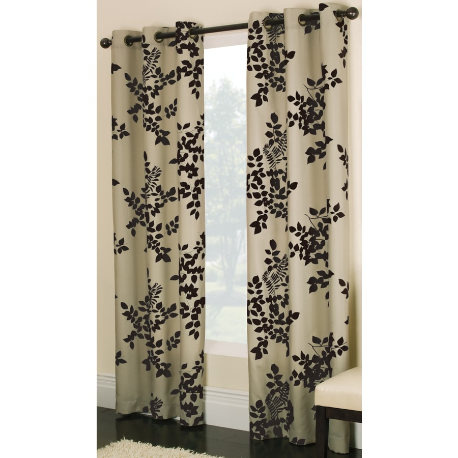allen + roth Waterbury 84-in Chocolate Cotton Grommet Light Filtering Single Curtain Panel