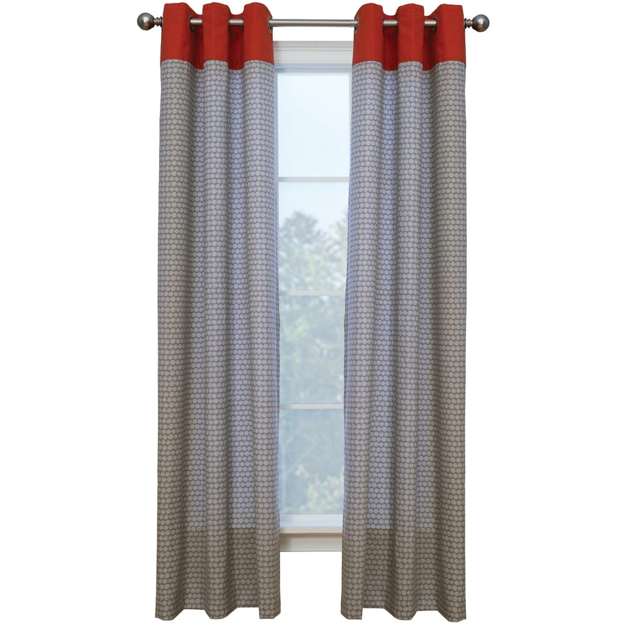 Coral curtain panel