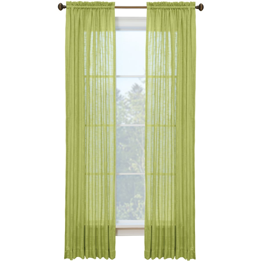Style Selections Kenna 84-in Leaf Polyester Rod Pocket Single Curtain Panel
