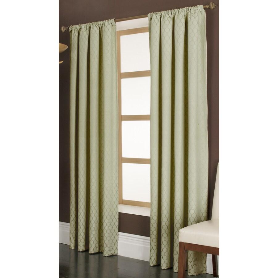 allen + roth Danbury 95-in Basil Polyester Rod Pocket Light Filtering Single Curtain Panel
