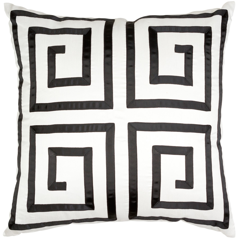 allen + roth 18-in W x 18-in L White Square Indoor Decorative Pillow Cover