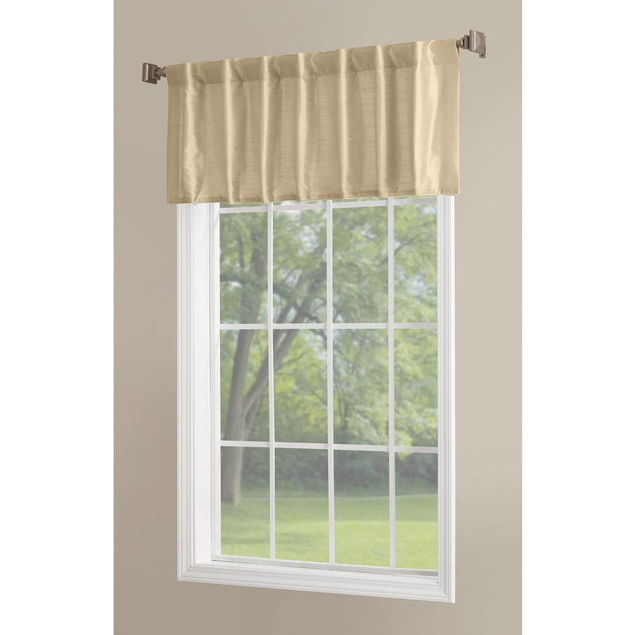 allen + roth Glenellen 18-in Gold Polyester Back Tab Light Filtering Single Curtain Panel