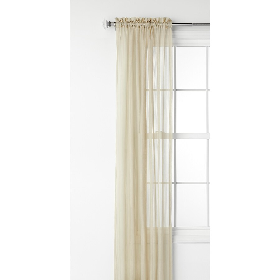 Shop Style Selections Fillion 95 In Taupe Polyester Rod