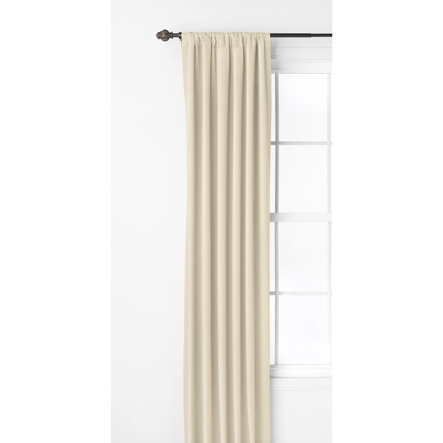 Style Selections Kalesh 63-in Ivory Polyester Rod Pocket Room Darkening Single Curtain Panel