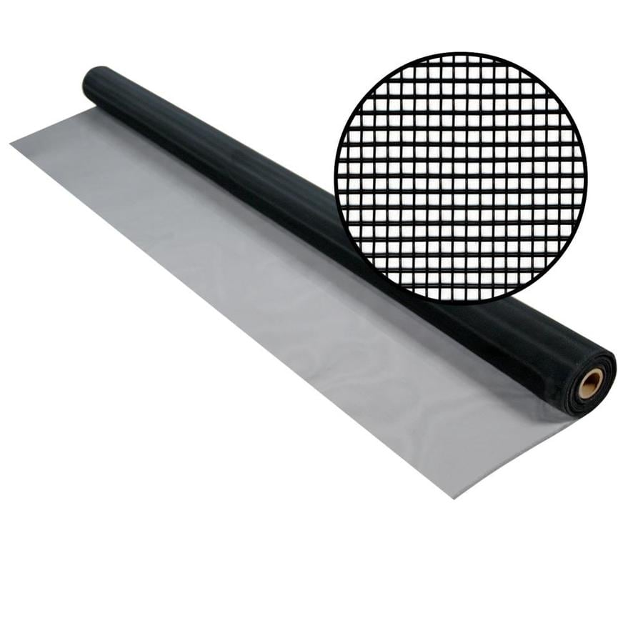 Shop phifer 72 in x 50 ft charcoal aluminum screen wire at for Phifer screen reviews