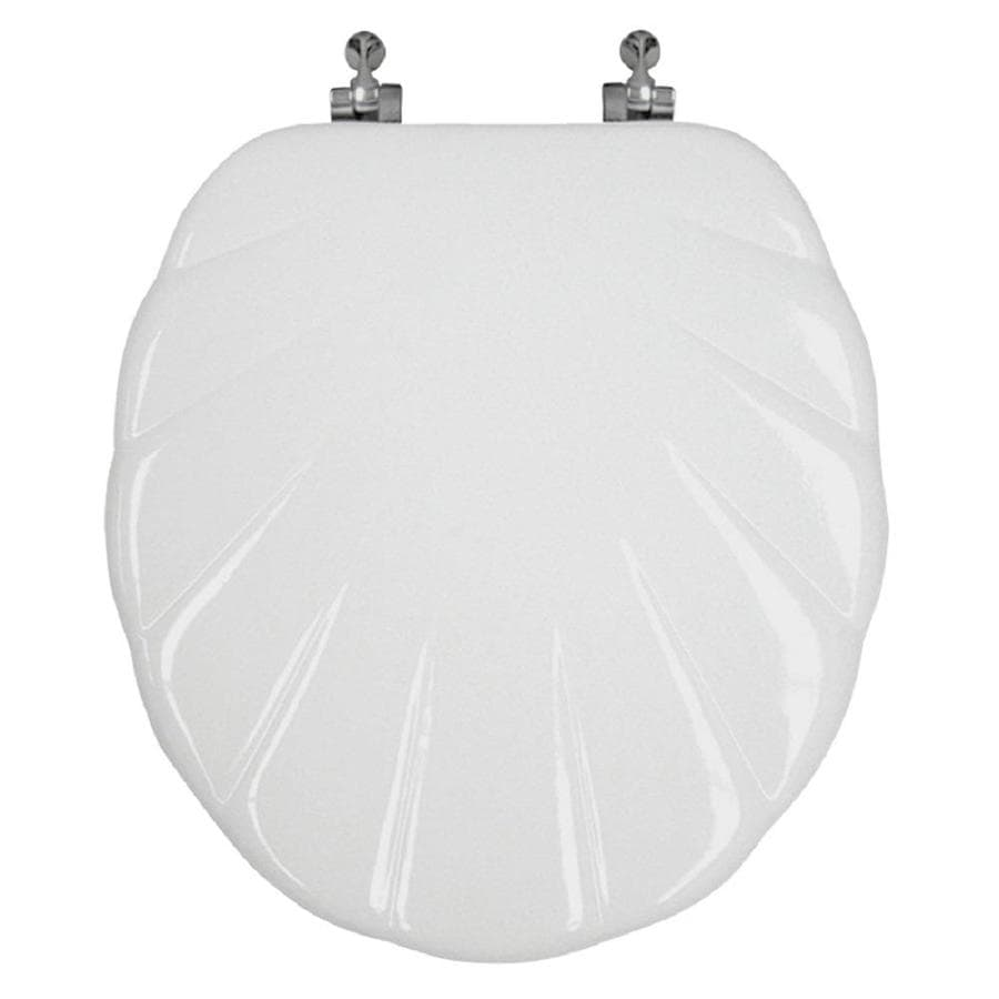 Design Trends Scallop Scallop Wood Round Toilet Seat