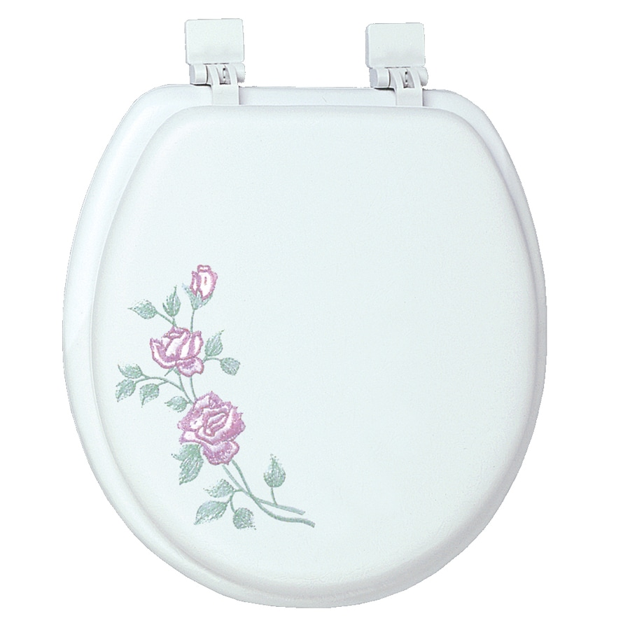 Classique Rose Garden Rose Garden Cushioned Vinyl Round Toilet Seat