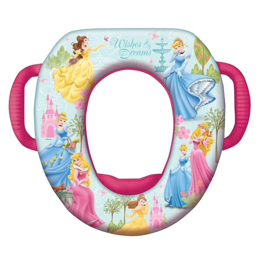 Disney Princess Cushioned Vinyl Round Toilet Seat