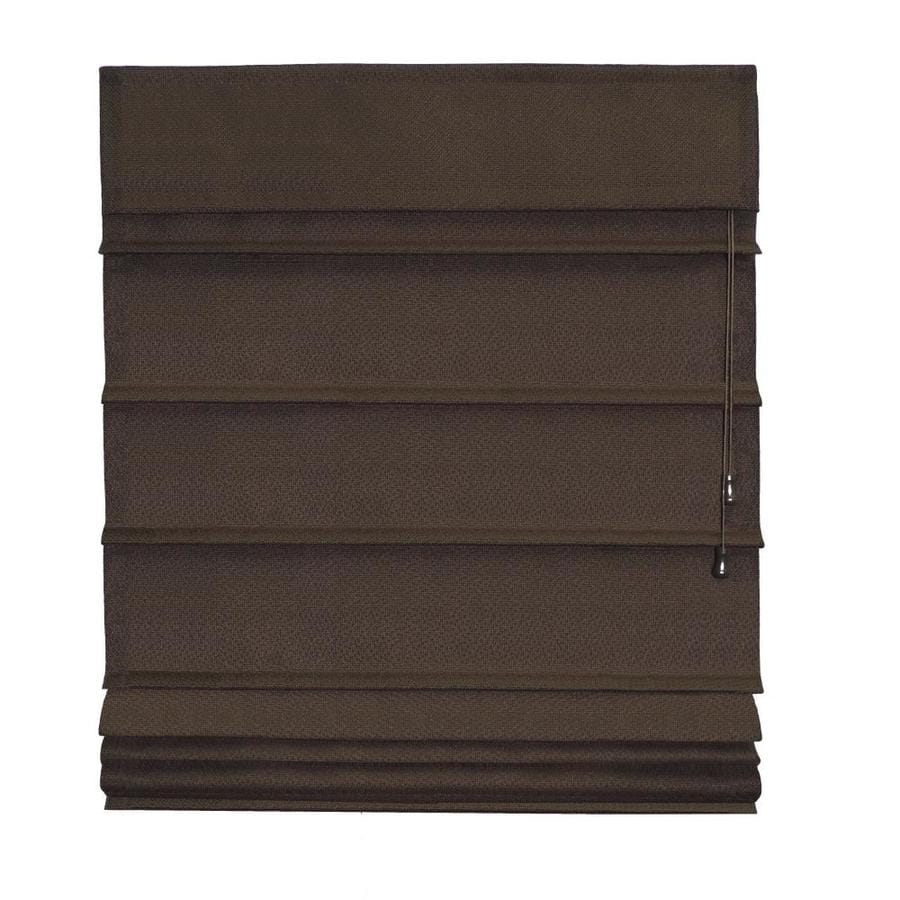 Radiance Chocolate Blackout Polyester Fabric Roman Shade (Common 27-in; Actual: 27-in x 72-in)