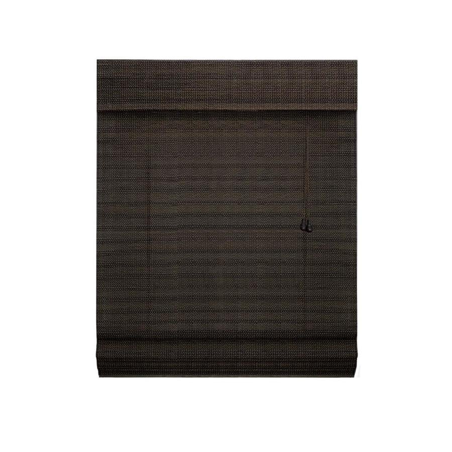 Radiance Coffee Light Filtering Bamboo Natural Roman Shade (Common 71-in; Actual: 71-in x 64-in)