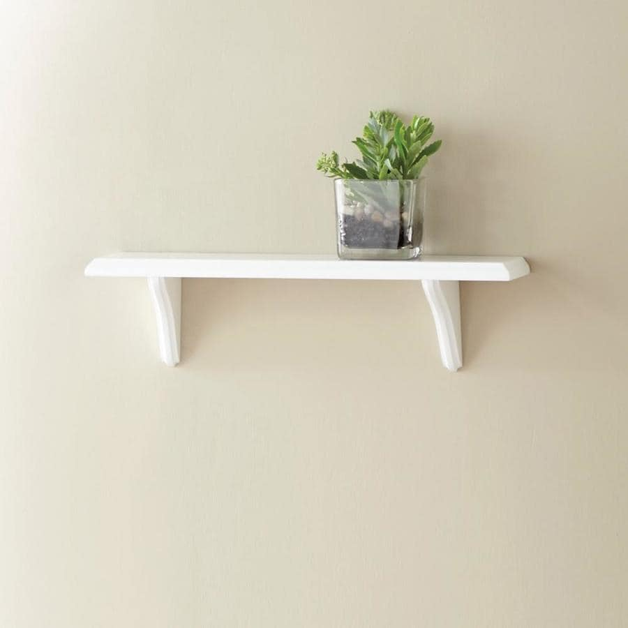 Style Selections 18-in W x 4.85-in H x 5-in D Wall Mounted Shelving