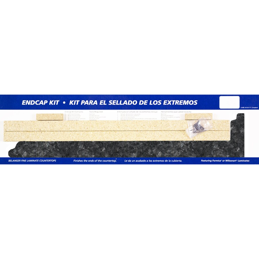 VT Dimensions 26.625-in Midnight Stone Etchings Laminate Kitchen End Cap