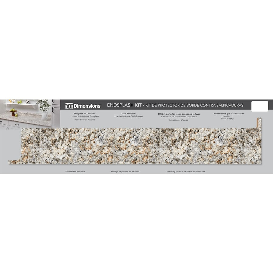 VT Dimensions 1.75-in W x 5.25-in H 9291-46 Geriba Gold Granite Etchings Laminate Waterfall Kitchen Side Splashes