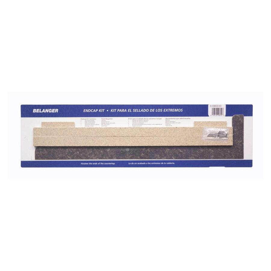how to trim laminate countertop end cap