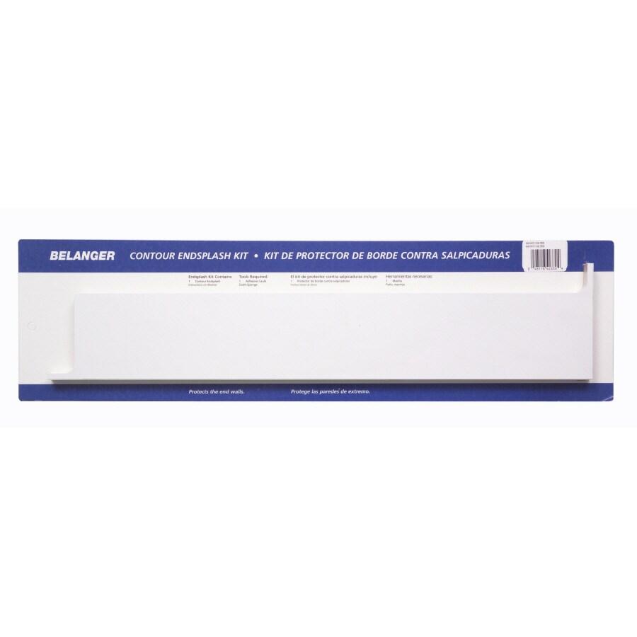BELANGER Fine Laminate Countertops 25.25-in W x 5.25-in H White Matte Laminate Waterfall Kitchen Side Splashes