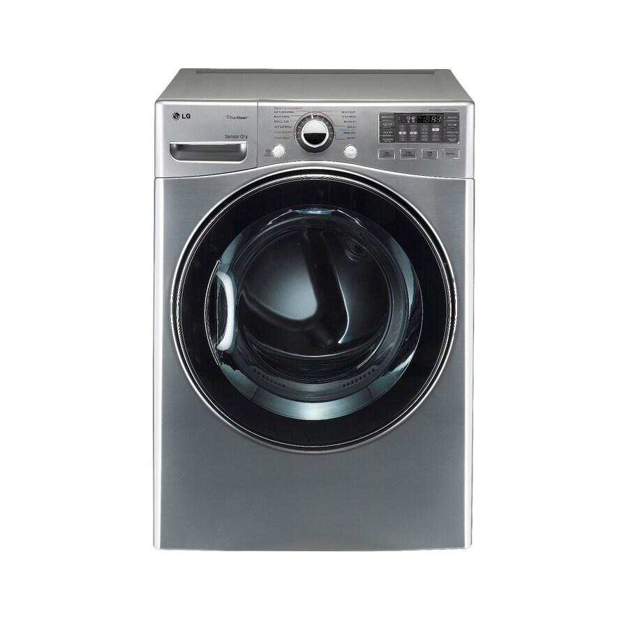 LG 7.3-cu ft Stackable Gas Dryer (Graphite Steel)
