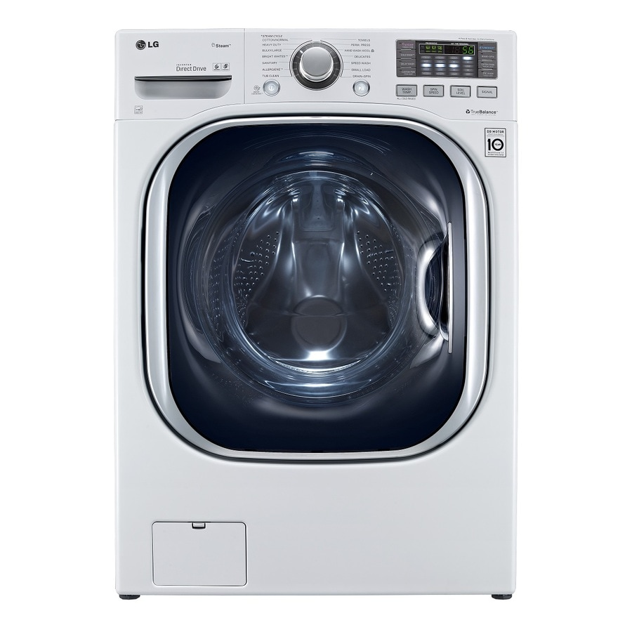 LG 4.3-cu ft High-Efficiency Front-Load Washer with Steam Cycle (White) ENERGY STAR