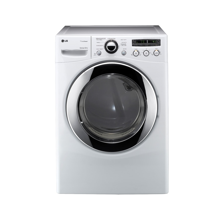LG 7.3-cu ft Stackable Gas Dryer (White)