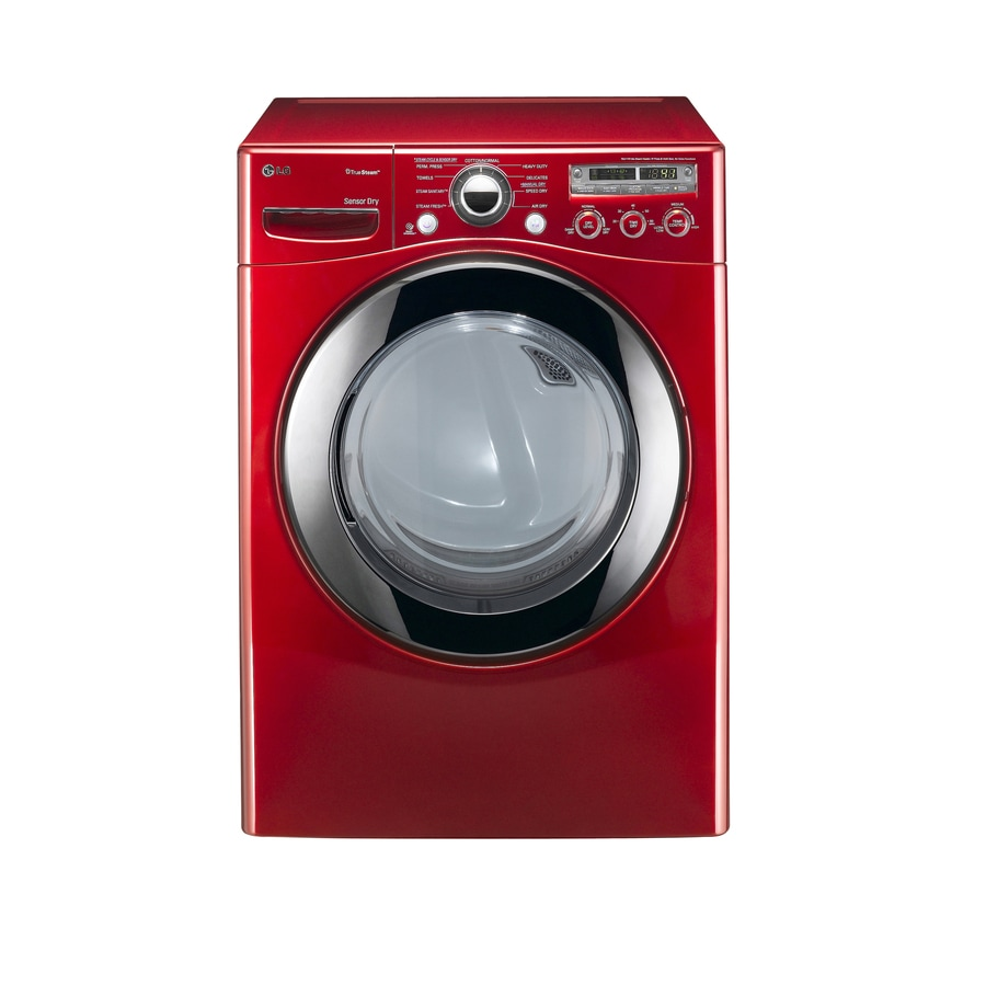 LG 7.3-cu ft Stackable Electric Dryer (Wild Cherry Red)