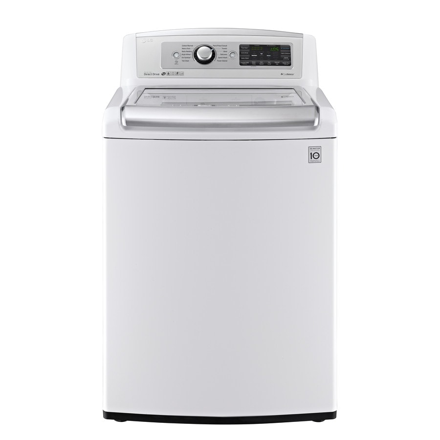 LG 5-cu ft High-Efficiency Top-Load Washer (White) ENERGY STAR