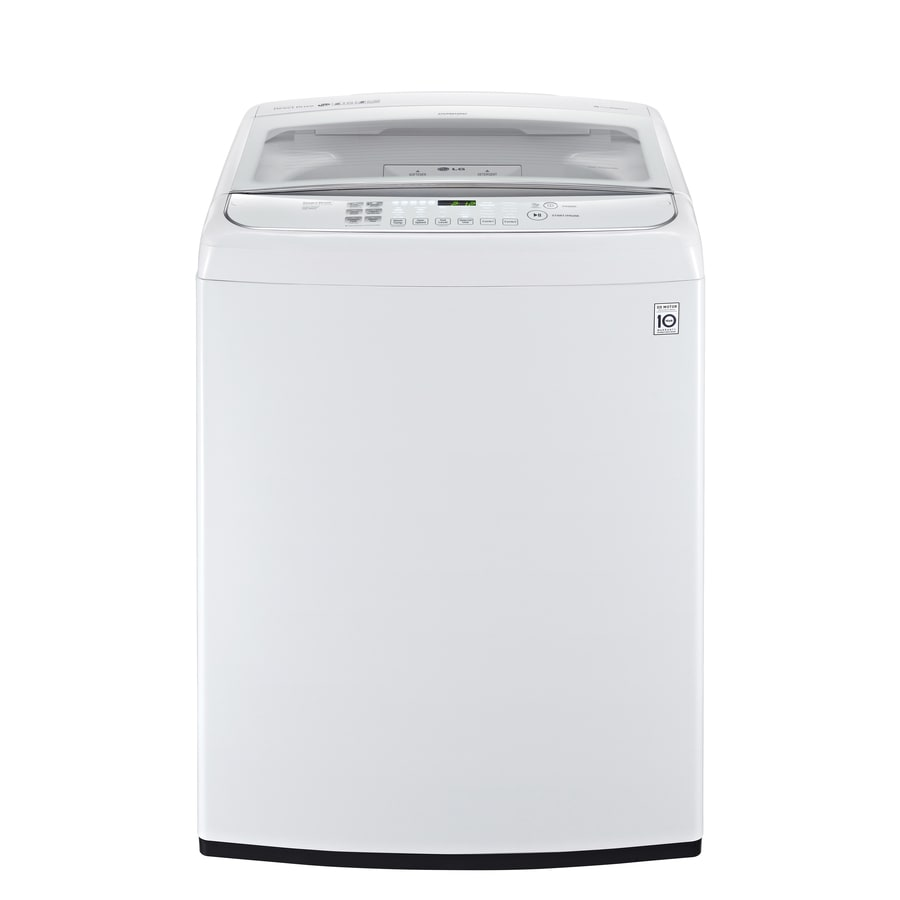 Shop Lg 4 9 Cu Ft High Efficiency Top Load Washer White