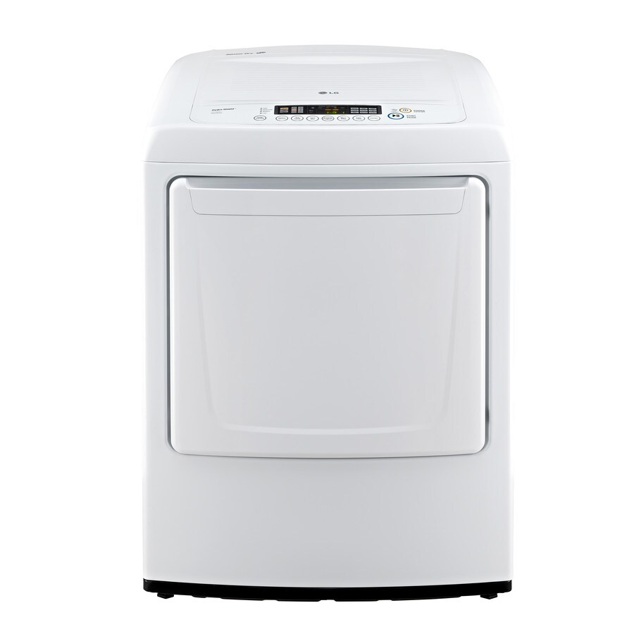 Shop Lg 7 3 Cu Ft Electric Dryer White At Lowes Com
