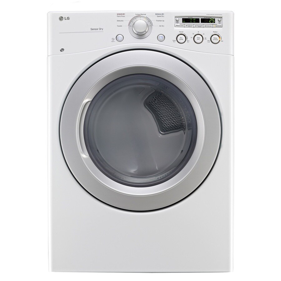 LG 7.3-cu ft Stackable Electric Dryer (White)