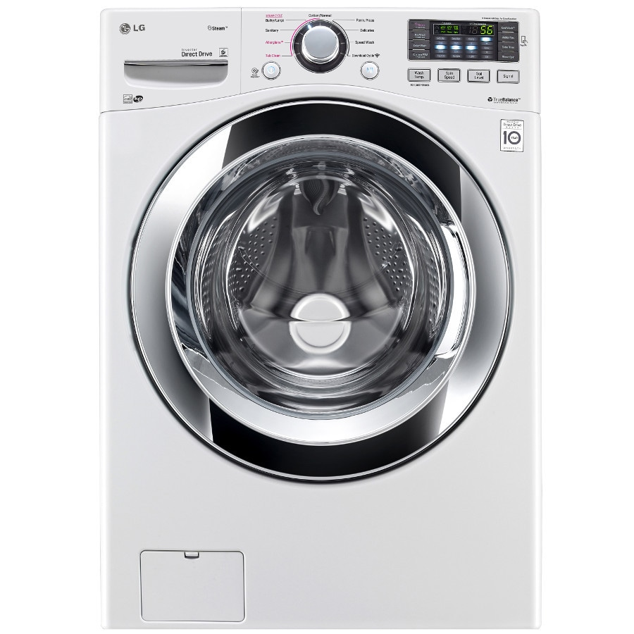 LG 4.3-cu ft High-Efficiency Stackable Front-Load Washer with Steam Cycle (White) ENERGY STAR