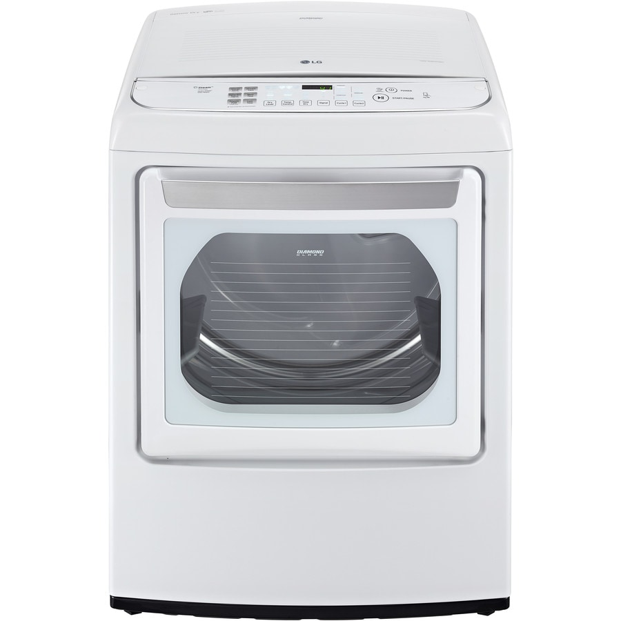 LG EasyLoad 7.3-cu ft Gas Dryer with Steam Cycle (White) ENERGY STAR