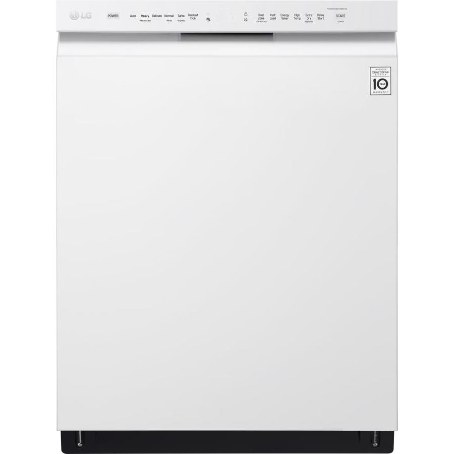 LG 48-Decibel Built-In Dishwasher (White) (Common: 24-in; Actual: 23.75-in) ENERGY STAR