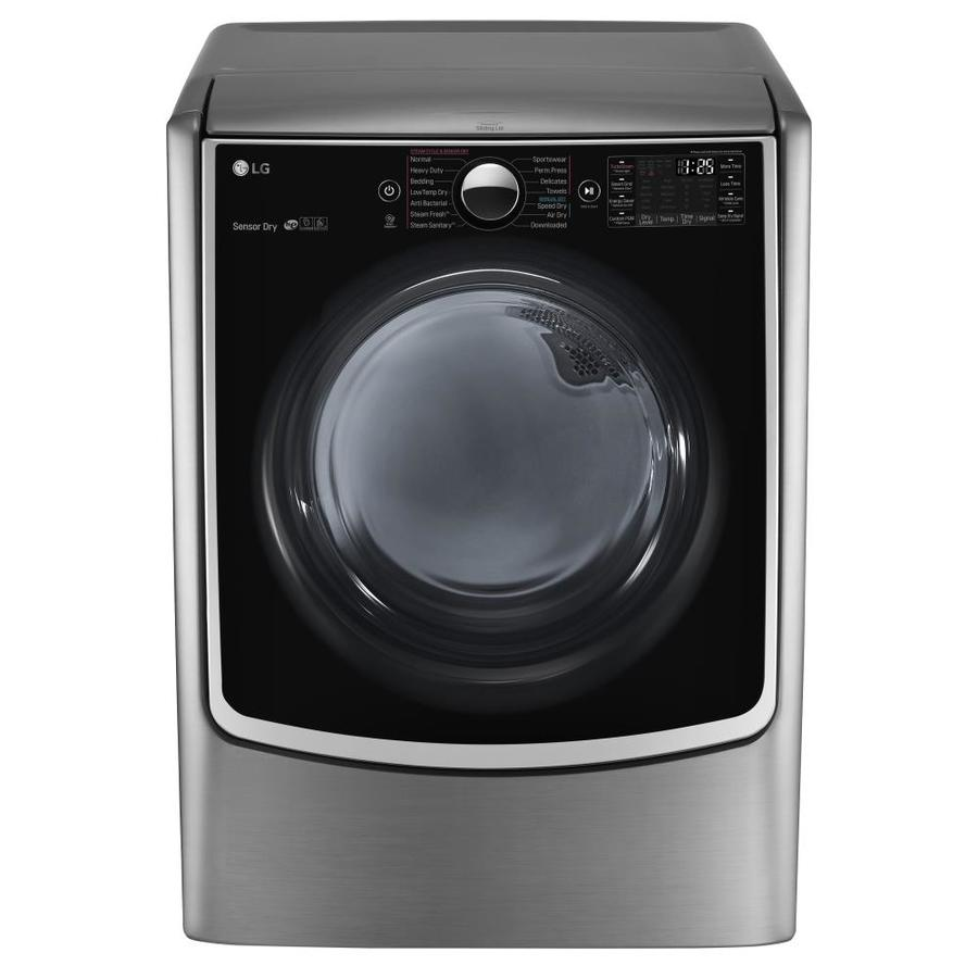 LG 7.4-cu ft Electric Dryer with Steam Cycle (Graphite Steel) ENERGY STAR