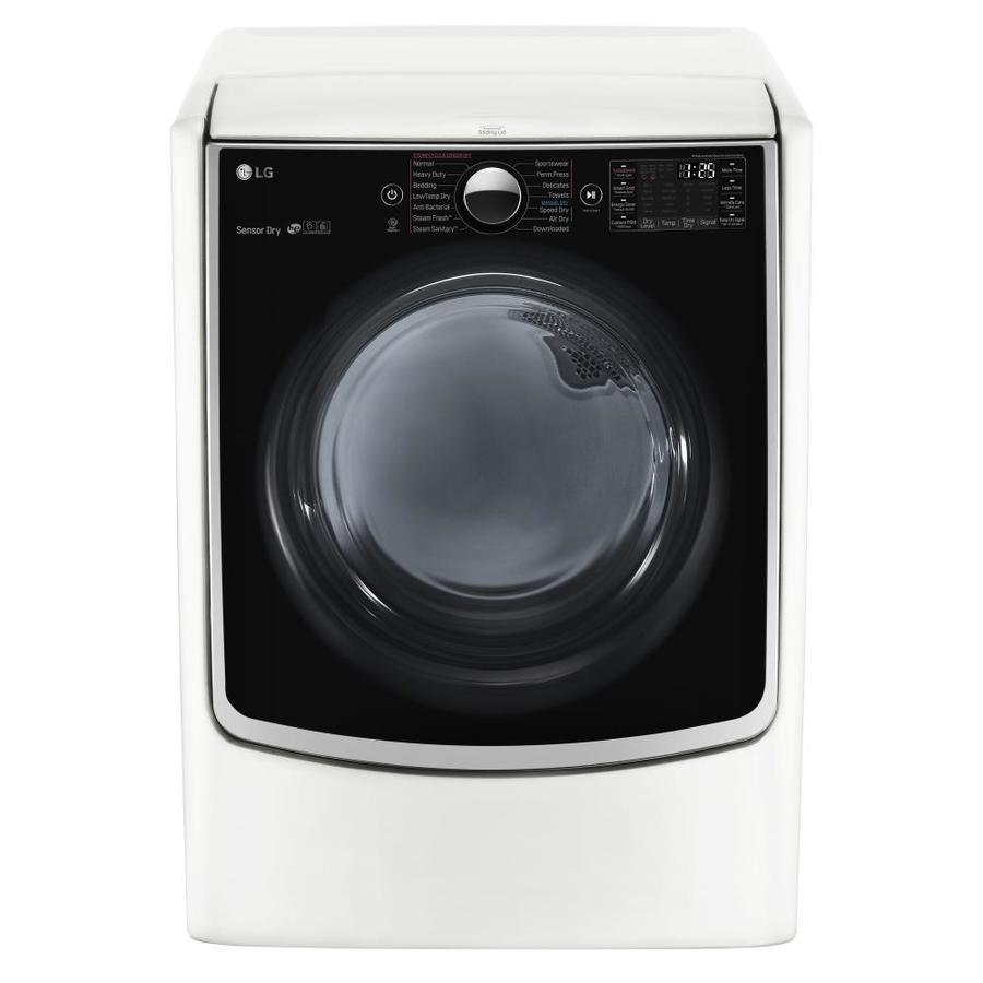 LG 7.4-cu ft Gas Dryer with Steam Cycles (White) ENERGY STAR