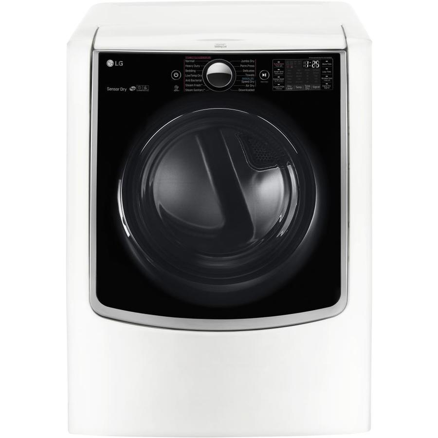 LG 9-cu ft Electric Dryer with Steam Cycle (White)