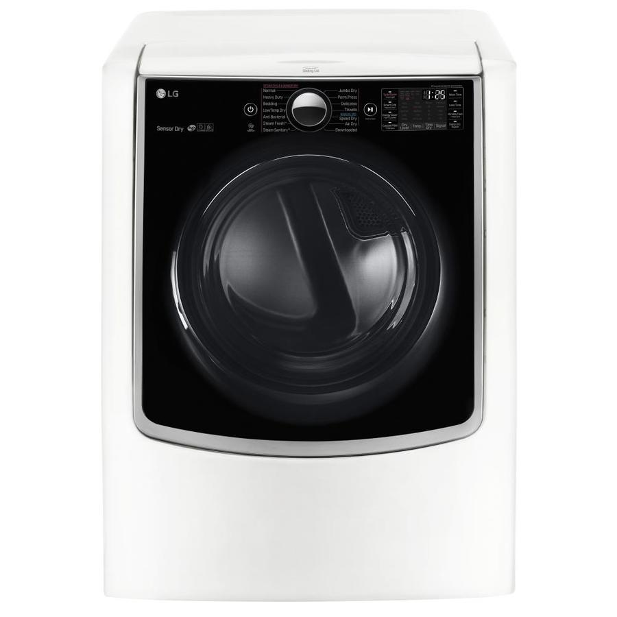 LG 9-cu ft Gas Dryer with Steam Cycles (White) ENERGY STAR