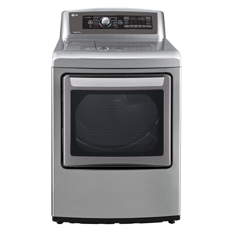 Shop Lg Easyload 7 3 Cu Ft Gas Dryer Graphite Steel At