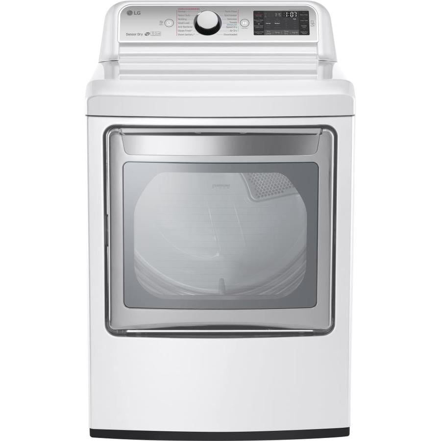 LG 7.3-cu ft Gas Dryer with Steam Cycle (White) ENERGY STAR
