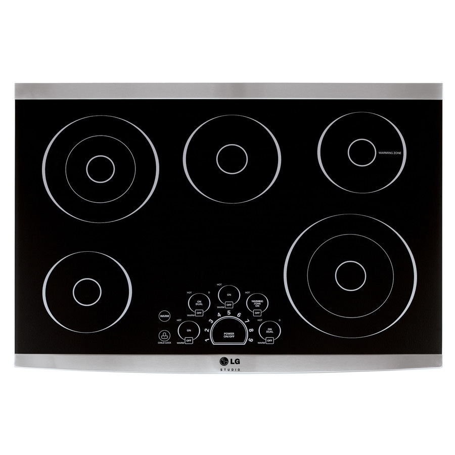 LG Studio 5-Element Smooth Surface Electric Cooktop (Black) (Common: 30-in; Actual 30.843-in)
