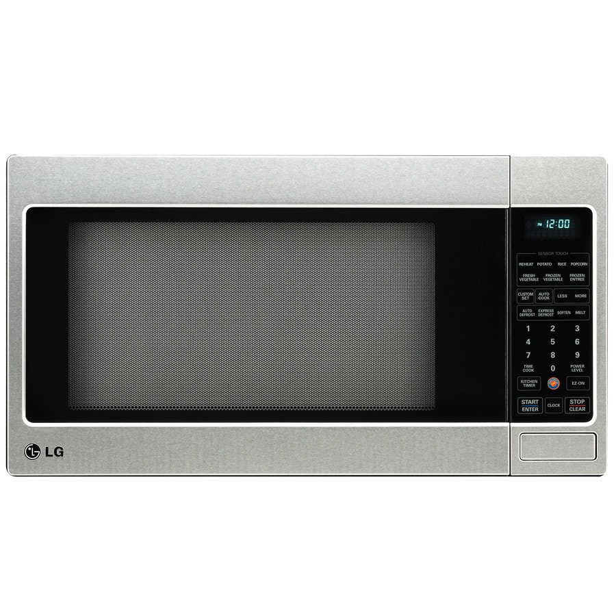 Shop LG 2-cu ft 1,200-Watt Countertop Microwave (Stainless Steel) at ...