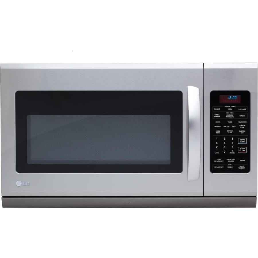LG 30-in 2-cu ft Over-the-Range Microwave with Sensor Cooking Controls (Stainless Steel)