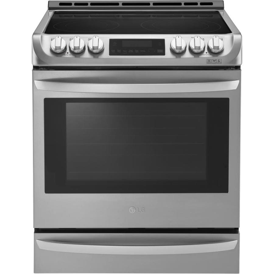LG EasyClean Smooth Surface 5-Element Slide-In Convection Electric Range (Stainless Steel) (Common: 30-in; Actual 29.9375-in)