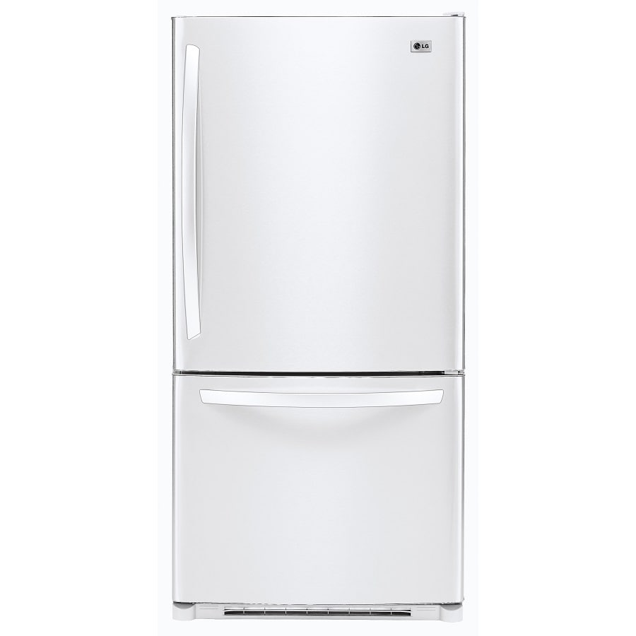 LG 22.4 cu ft Bottom-Freezer Refrigerator (Smooth White) ENERGY STAR