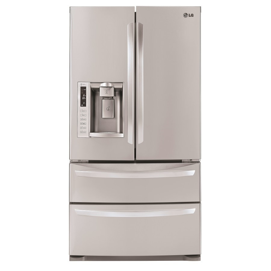 LG 27.5-cu ft 4 French Door Refrigerator with Single Ice Maker (Stainless Steel) ENERGY STAR