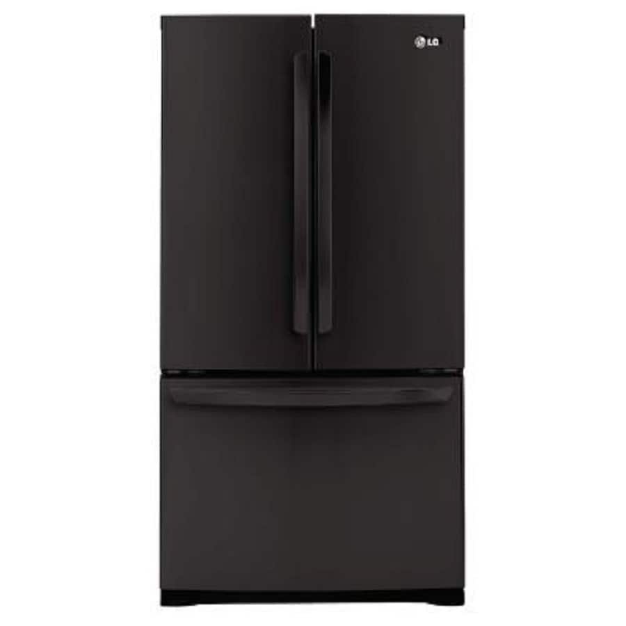LG 25-cu ft French Door Refrigerator with Single Ice Maker (Smooth Black) ENERGY STAR