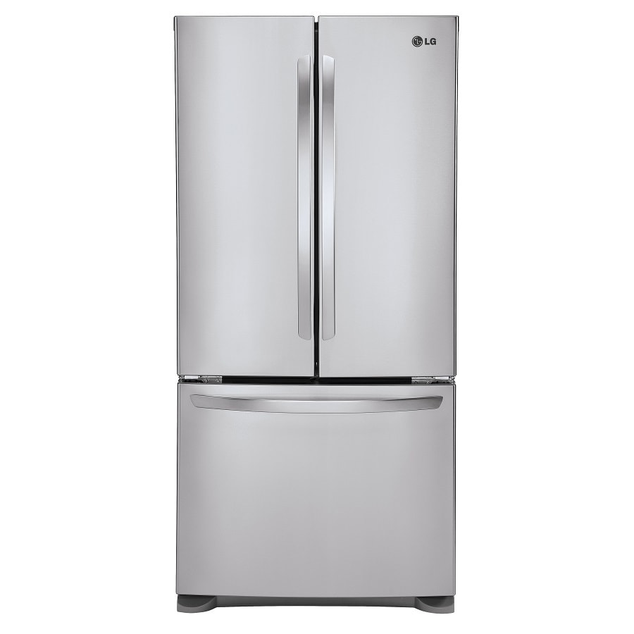 LG 20.9-cu ft Counter-Depth French Door Refrigerator with Single Ice Maker (Stainless Steel) ENERGY STAR